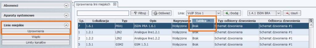 Wyłączenie kierowania ruchu na numery DDI – ProximaWeb/LibraWeb