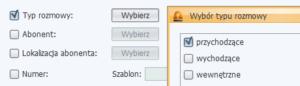 Rys. 6. Selekcja połączeń przychodzących w raporcie programu LibraWeb.