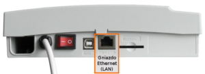 Fot. 1. Gniazdo do podłączenia sieci Ethernet.